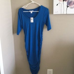 Motherhood maternity dress blue